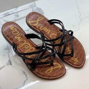 Sam Edelman black flat Georgette sandal Size 6 EUC